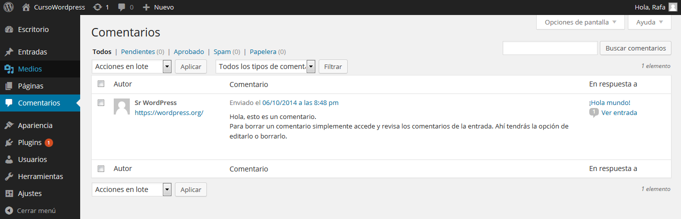 Comentarios wordpress
